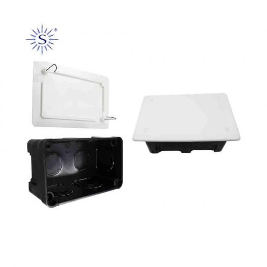 Boîte de Dérivation Encastrable Rectangulaire 50x100mm 8 Entrées