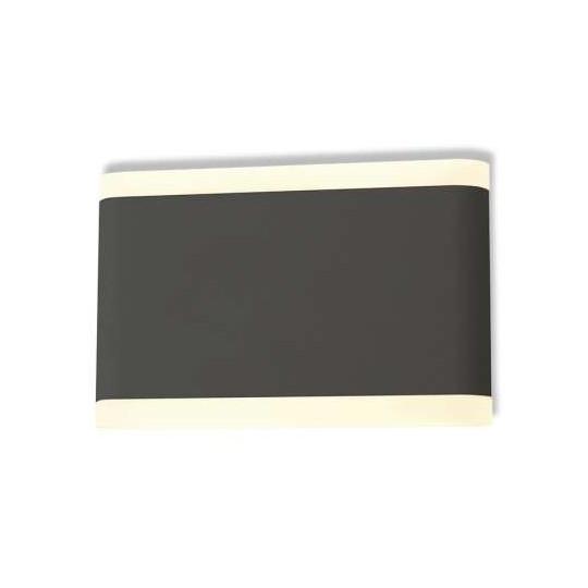 Applique Murale LED 10W Grise IP54 - Blanc Chaud 3000K