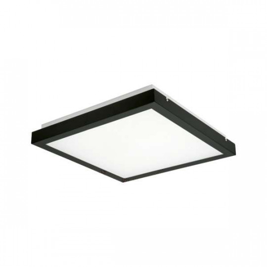 Plafonnier LED 25W  Noir - Blanc Naturel 4000K