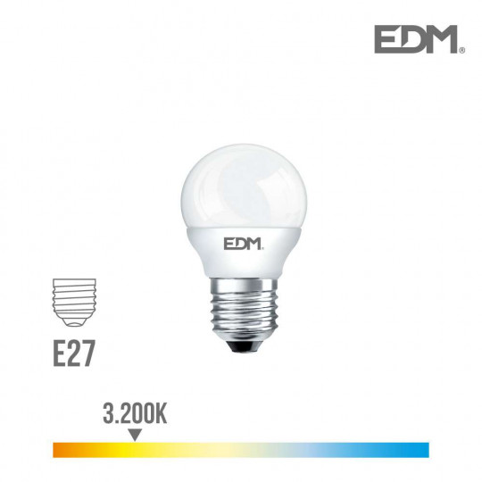 Ampoule LED E27 5W équivalent à 35W - Blanc Chaud 3200K