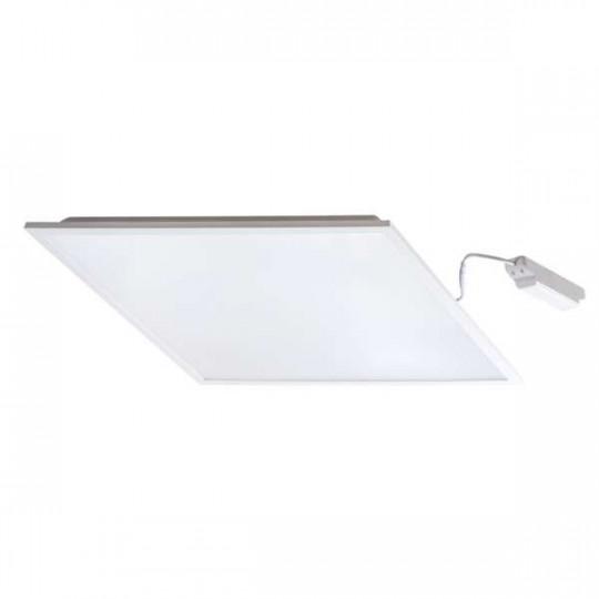 Dalle LED 48W carré 595mmx595mm Blanc - Blanc Naturel 4000K