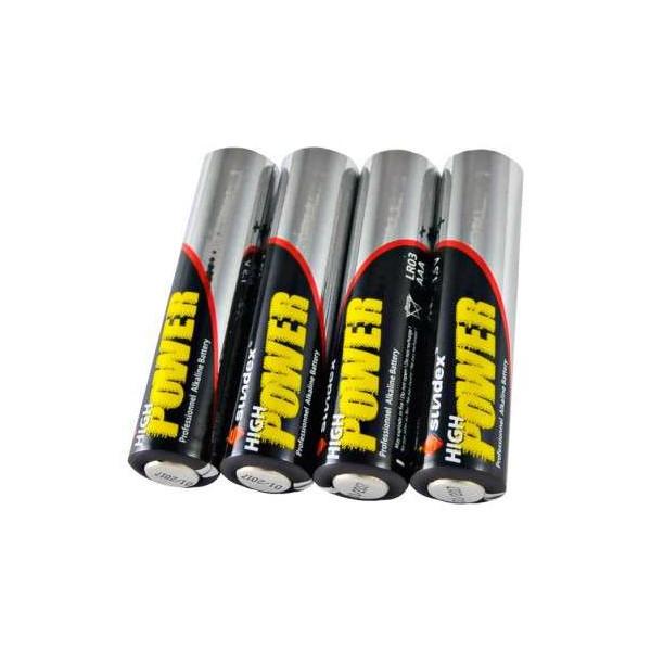 Pack de 4 Piles LR03 AAA Super Alcaline 12-48 SUNDEX