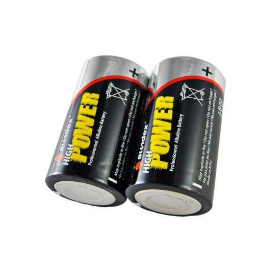 Pack de 2 Piles LR20 Super Alcaline 1,5V SUNDEX