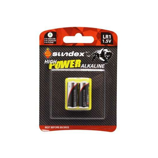 Piles LR1 1,5 x2 Super Alcaline SUNDEX