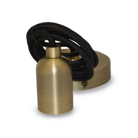 Suspension métal douille E27 Bronze Mat avec câble 2m