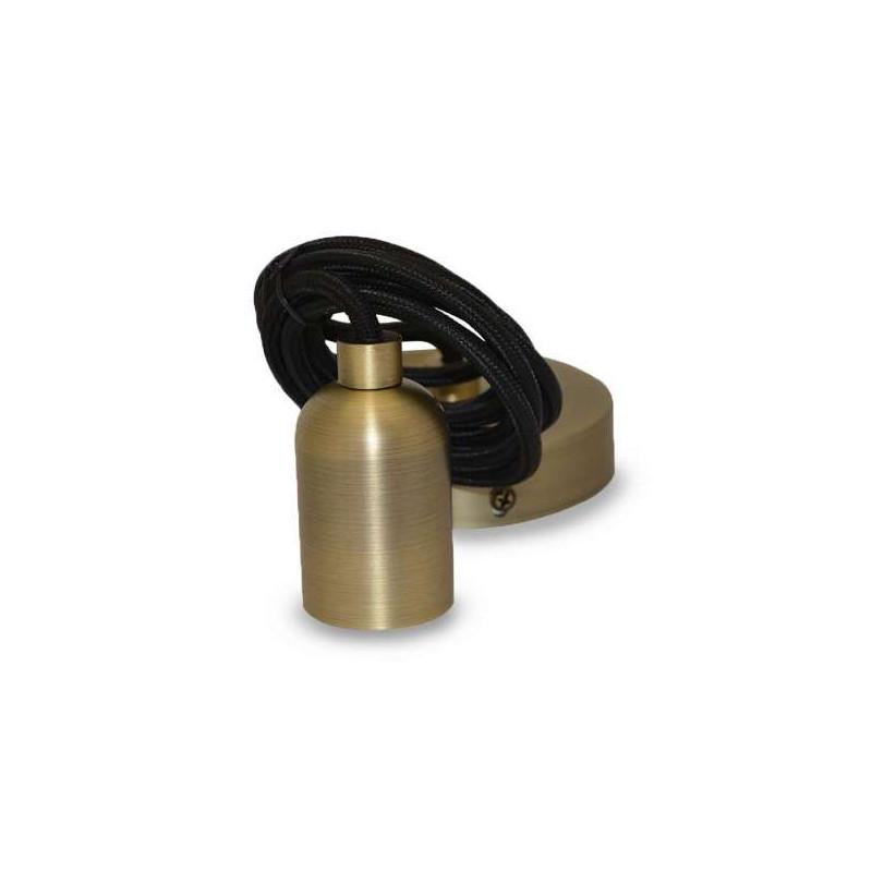 Suspension métal douille E27 Bronze...