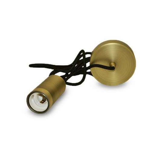 Suspension Métal Cylindrique E27 Bronze avec câble 2m