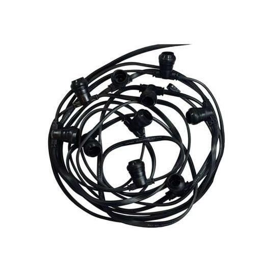 Guirlande Guinguette câble plat 10m pour 20 ampoules E27