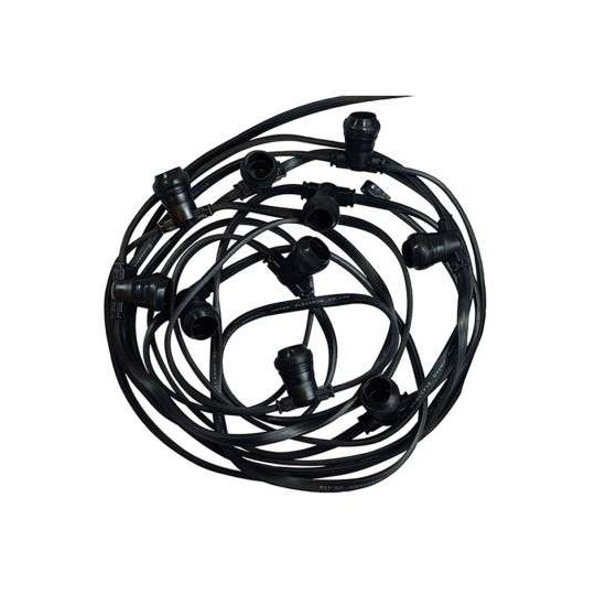 Guirlande Guinguette câble plat 10m pour 20 ampoules B22