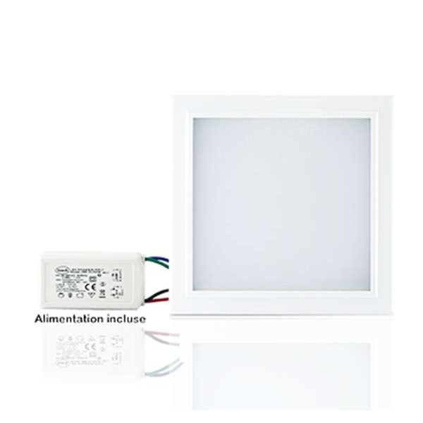 Plafonniers LED 200x200mm 14W blanc équivalent 120W