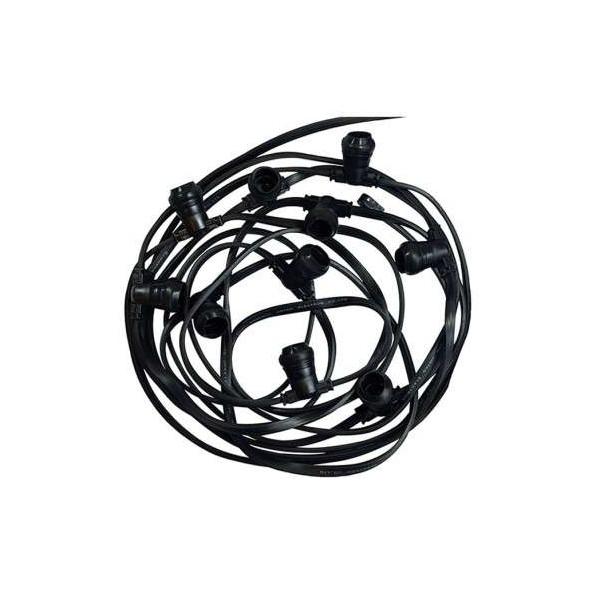 Guirlande Guinguette câble plat 10m pour 10 ampoules B22