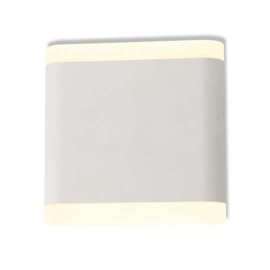 Applique Murale LED 6W Carré Blanche IP54 - Blanc Chaud 3000K