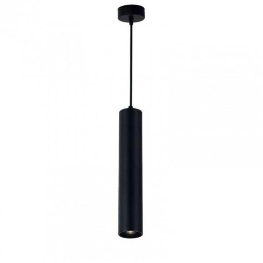 Suspension Moderne GU10 Noire H30cm