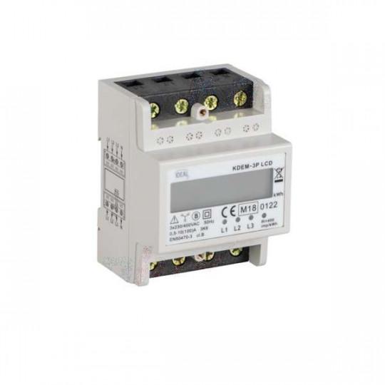 Compteur de Consommation Électrique pour Rail TH35 Circuit Triphasé