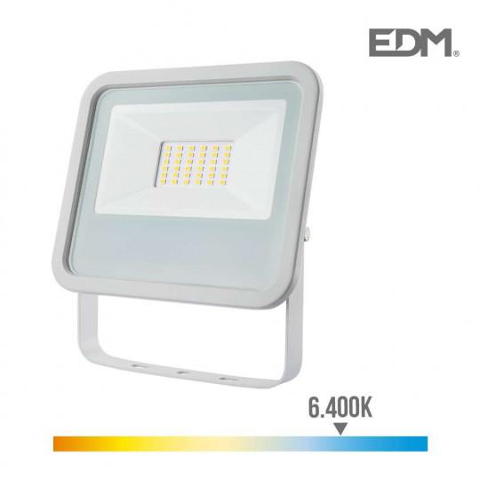 Projecteur LED 30W Blanc étanche IP65 2100lm (240W) - Blanc du Jour 6400K