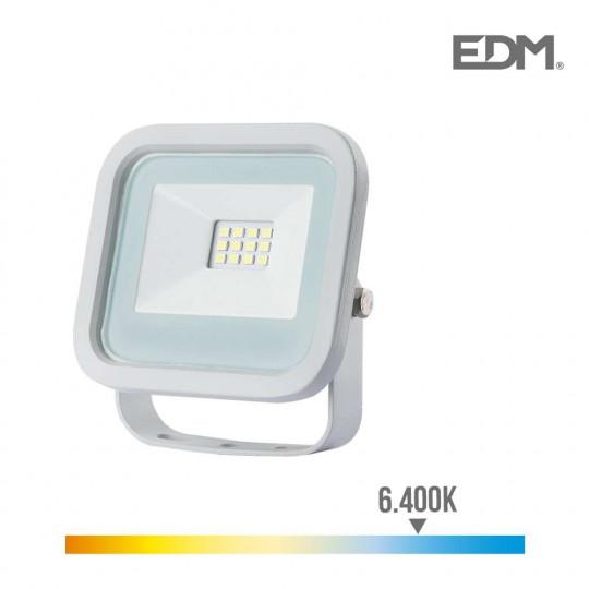 Projecteur LED 10W Blanc étanche IP65 700lm (80W) - Blanc du Jour 6400K