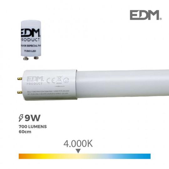 Tube LED T8 60cm 9W 700lm - Blanc Naturel 4000K
