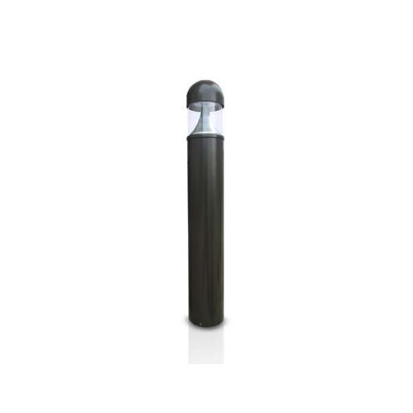 Potelet LED 35W Cylindrique Gris 100cm IP54 - Blanc Chaud 3000K