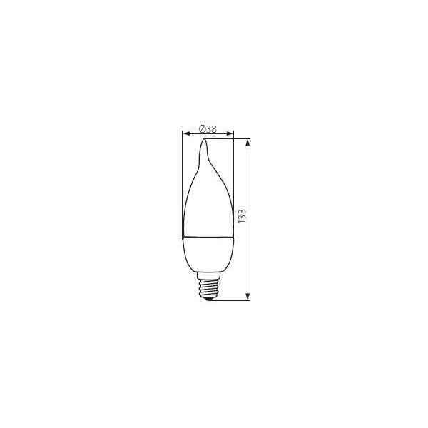 IDO LED E14 6,5W flamme coup de vent équivalent 50W Kanlux
