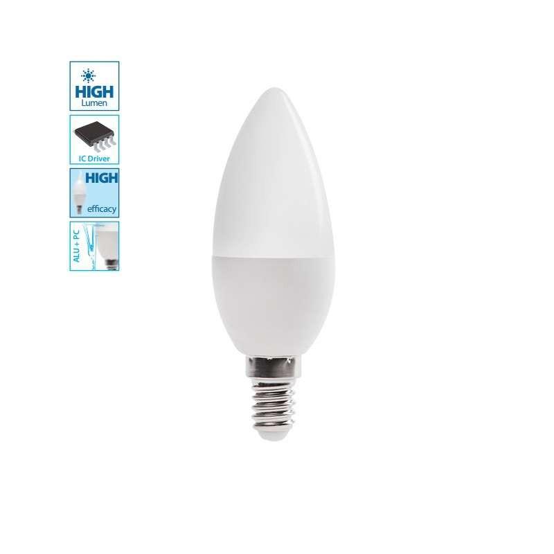 Ampoule LED E14 6,5W flamme équivalent 50W