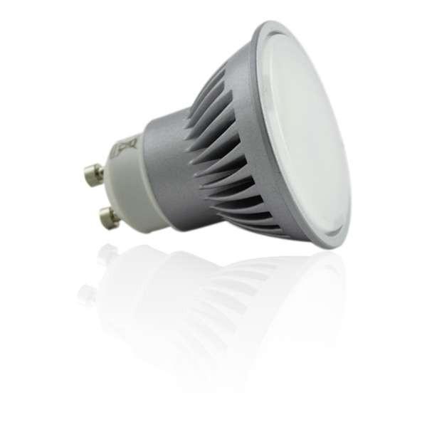Kit Spot encastrable orientable blanc LED GU10 7W (60W) Blanc Chaud 3000K angle large
