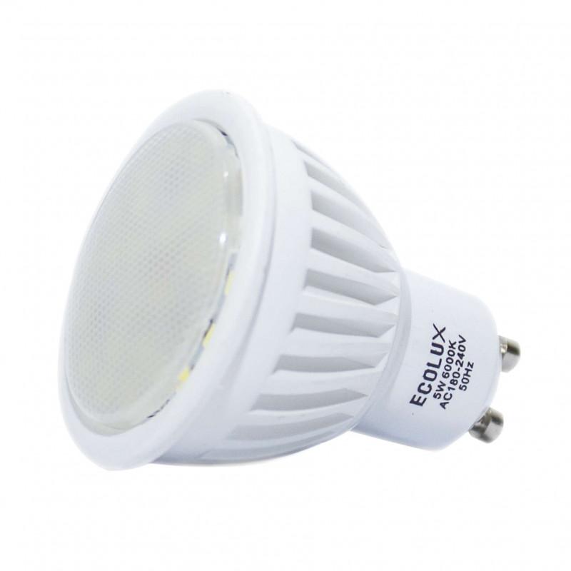 Spot LED GU10 5W éclairage 50W dichroïque