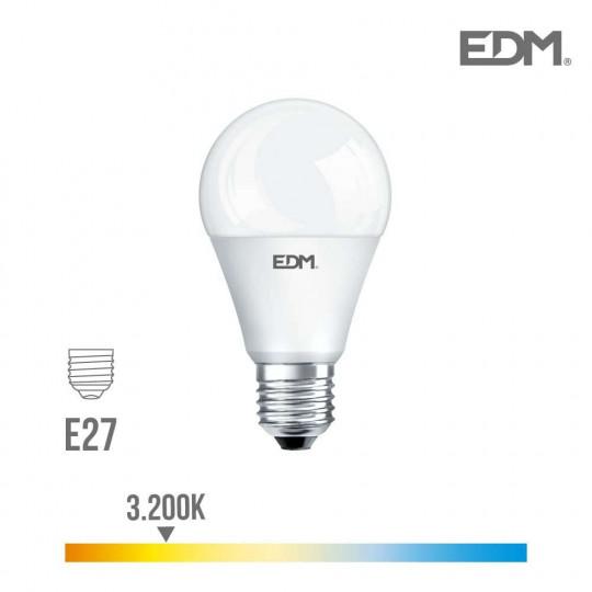 Ampoule LED E27 17W Ronde A60 équivalent à 165W - Blanc Chaud 3200K
