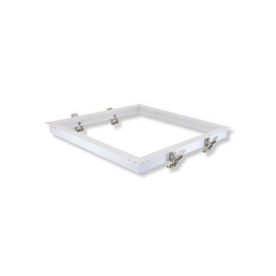 Kit Encastrable Placo pour Dalle LED 300x300mm Aluminium Blanc