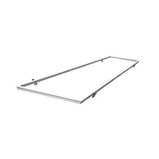 Kit Encastrable Placo pour Dalle LED 300x1200mm Aluminium Blanc