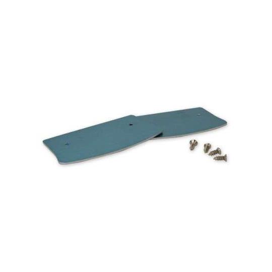 Lot de 2 Caches Fins pour Réglette LED Aluminium