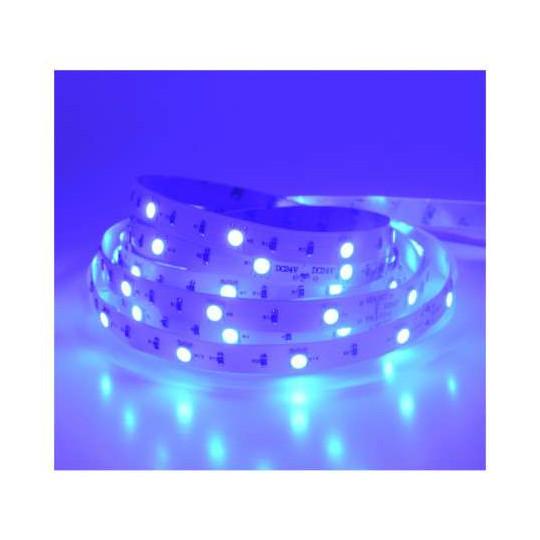 Ruban LED 30 LED/m IP20 7,2W/m Bleu 5m 12V