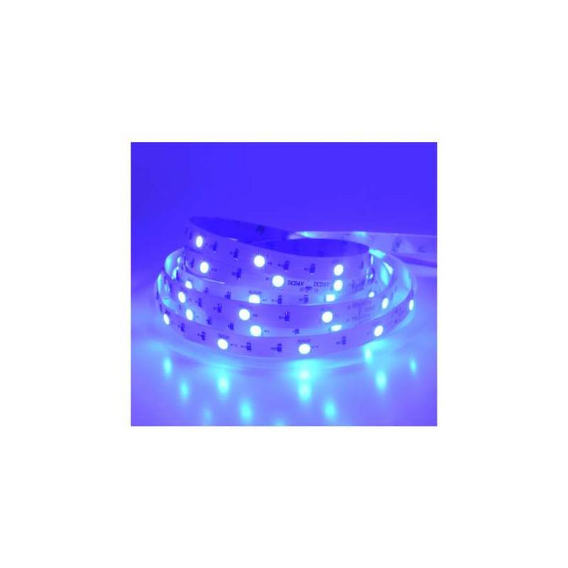 Ruban LED 30 LED/m IP20 7,2W/m Bleu...