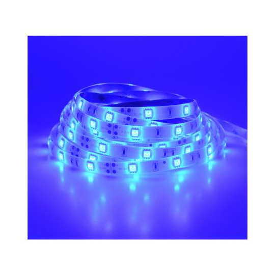 Ruban LED 30 LED/m IP65 7,2W/m Bleu 5m 12V