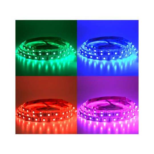 Ruban LED 60 LED/m IP20 14,4W/m RGB 5m 12V