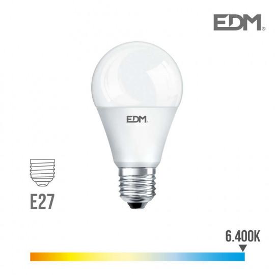 Ampoule LED E27 12W Ronde A60 équivalent à 75W - Blanc du Jour 6400K
