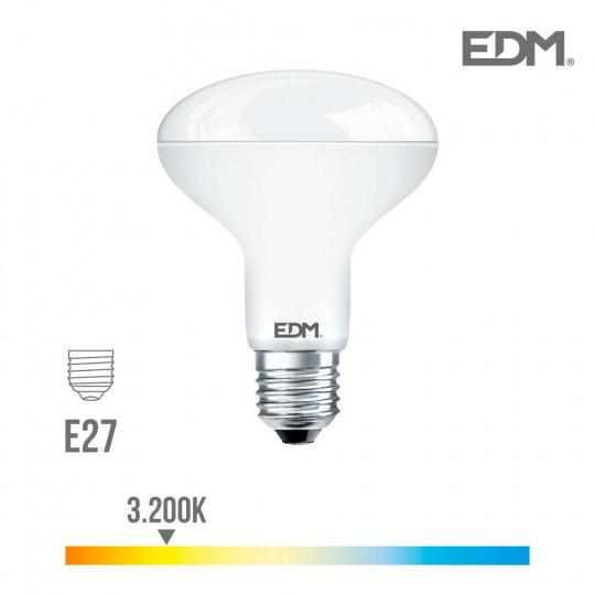Ampoule LED E27 10W R80 équivalent à 60W - Blanc Chaud 3200K