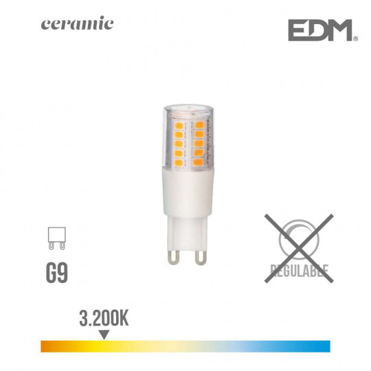 Ampoule LED G9 5,5W équivalent à 50W - Blanc Chaud 3200K