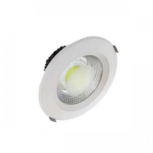 Downlight LED 15W rond ∅166mm Blanc - Blanc Chaud 2700K