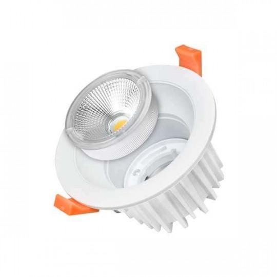 Downlight LED 25W rond ∅183mm Blanc - Blanc Naturel 4500K