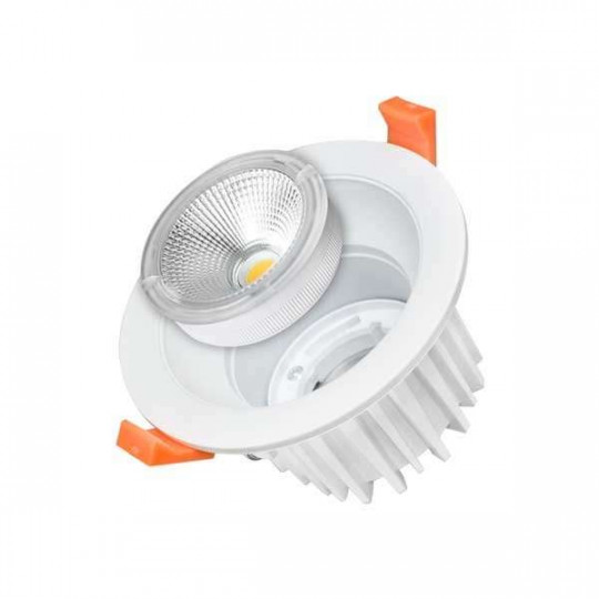 Downlight LED 35W rond ∅231mm Blanc - Blanc Naturel 4500K
