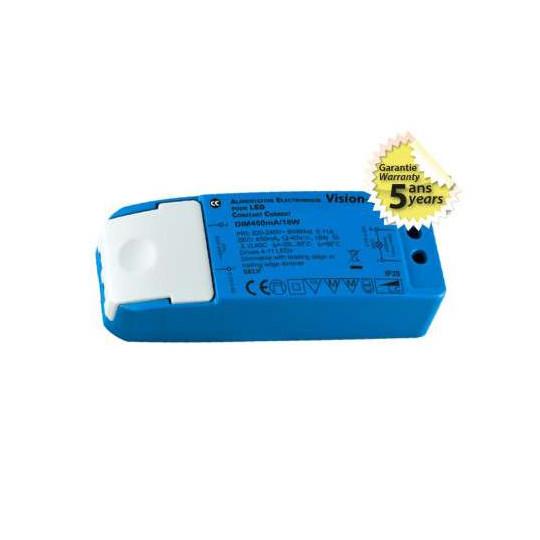 Alimentation LED 18W Dimmable 12-40V 450mA IP20