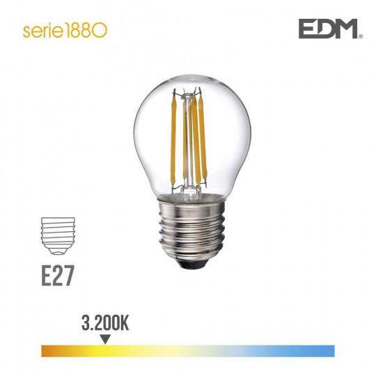 Ampoule LED E27 4W équivalent à 35W - Blanc Chaud 3200K