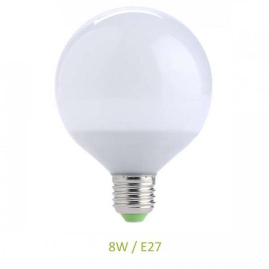Ampoule E27 8W Globe G70 LED Ecolux