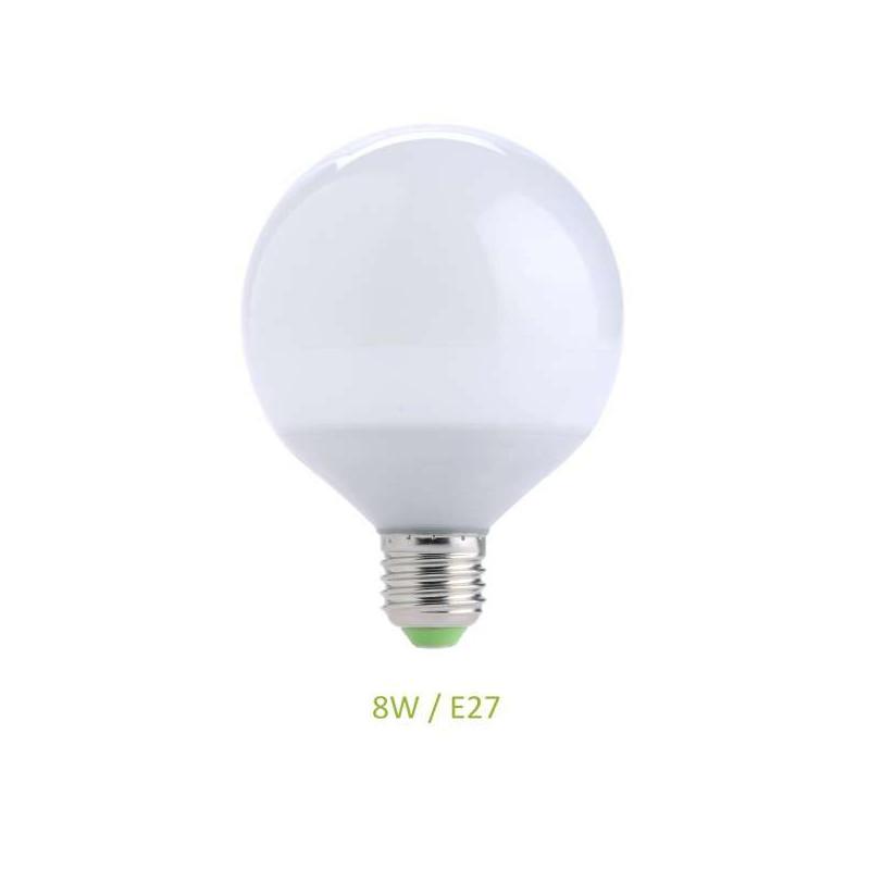 Ampoule E27 8W Globe LED Ecolux