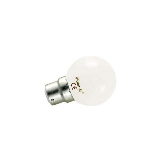 Ampoule LED B22 1W Équivalent 9W G45 - Blanc Chaud 3000K