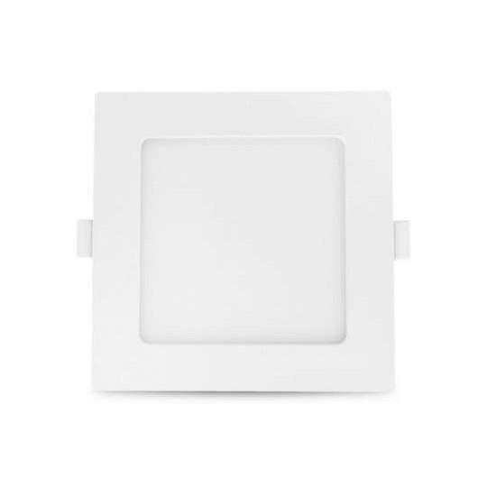 Plafonnier LED 150x150mm 10W blanc équivalent 100W - Blanc du Jour 6000K