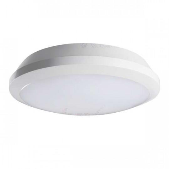 Plafonnier LED 26W à détecteur étanche IP65 rond ∅300mm Blanc - Blanc Naturel 4000K