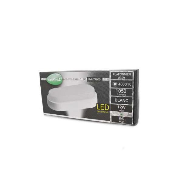 Plafonnier LED ovale 12W équivalent 110W étanche IP65 Blanc Naturel 4000K