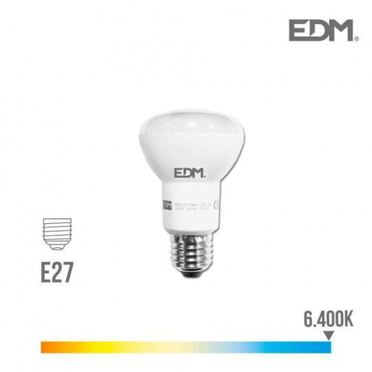 Ampoule LED E27 7W R63 équivalent à 50W - Blanc du Jour 6400K