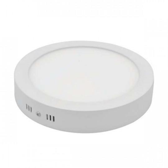 Plafonnier de surface LED 18W rond ∅225mm - Blanc Chaud 2800K
